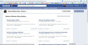 notizen in facebook
